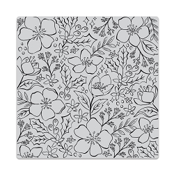Hero Arts - Cling Rubber Stamp - Christmas Rose Bold Prints