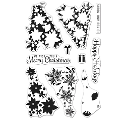 Hero Arts - Clear Stamp - Color Layering Poinsettia Christmas Tree