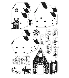Hero Arts - Clear Stamp - Color Layering Gingerbread House