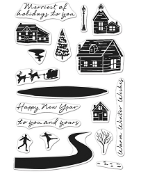 Hero Arts - Clear Stamp - Snowy Town