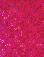 Hot off the Press - 8 1/2x11 Holographic Paper - Pink Hearts