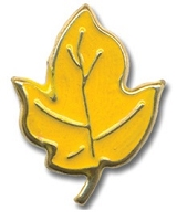 Hot Off The Press - Brads - Yellow/Gold Large Maple Leaf