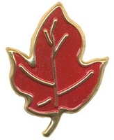 Hot Off The Press - Brads - Red/Gold Large Maple Leaf