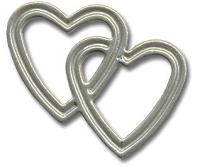 Hot Off The Press - Brads - Pewter Entwined Hearts