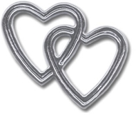 Hot Off The Press - Brads - Silver Entwined Hearts