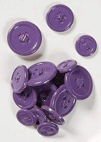 Hot Off The Press - Button Brads - Purple Pizazz
