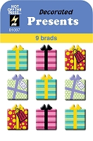 Hot Off The Press - Brads - Decorated Presents