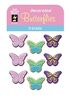 Hot Off The Press - Brads - Decorated Butterflies