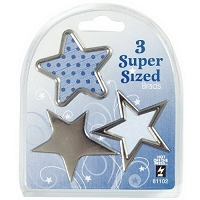 Hot Off The Press - Super Sized Brads - Silver Star