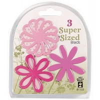 Hot Off The Press - Super Sized Brads - Pink Flower :)