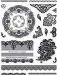 Hot off the Press-Clear Stamps-Lace & Doilies