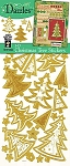 Hot off the Press-Dazzles Stickers-3D Christmas Trees Gold