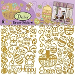 Hot off the Press-6x12 Dazzles Stickers-Easter Gold