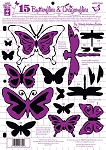Hot off the Press-8 1/2x11 Template-15 Butterflies & Dragonflies