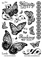 Hot off the Press - Clear Stamps - Butterflies Set :)