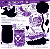 Hot Off The Press - 12x12 Template - Iris Folding #2