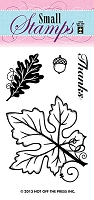 Hot off the Press-Mini Clear Stamp-Leaves