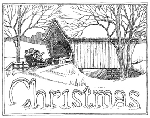 Impression Obsession Cling Mounted Rubber Stamp - Santa Bridge