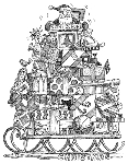 Impression Obsession Cling Mounted Rubber Stamp - Christmas Sled