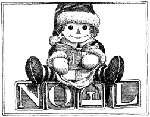 Impression Obsession Cling Mounted Rubber Stamp - Noel Doll