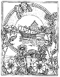 Impression Obsession Cling Mounted Rubber Stamp - Framed Boat
