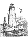 Impression Obsession Cling Mounted Rubber Stamp - Ocracoke Lighthouse