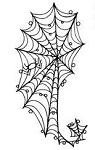 Impression Obsession Cling Mounted Rubber Stamp - Spider Web Paisley