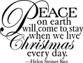 Impression Obsession Cling Mounted Rubber Stamp - Peace On Earth
