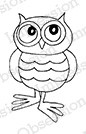 Impression Obsession - Cling Mounted Rubber Stamp - By Gail Green - Little Owl 2