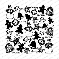 Impression Obsession - Cling Mounted Rubber Stamp - Cover A Card - Hand Carved Christmas
