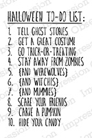 Impression Obsession - Cling Mounted Rubber Stamp - By Kalani Allred - Halloween To Do List