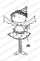 Impression Obsession - Cling Mounted Rubber Stamp - By Lindsay Ostrom - Bat Girl