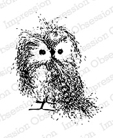 Impression Obsession - Cling Mounted Rubber Stamp - By Alesa Baker - Feathery Owl Small