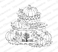 Impression Obsession - Cling Mounted Rubber Stamp - By Tara Caldwell - Halloween Cake