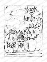 Impression Obsession - Cling Mounted Rubber Stamp - By Lindsay Ostrom - Jack-O-Lanterns