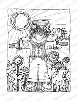 Impression Obsession - Cling Mounted Rubber Stamp - By Lindsay Ostrom - Scarecrow