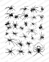 Impression Obsession - Cling Mounted Rubber Stamp - By Gail Green - Spider Background
