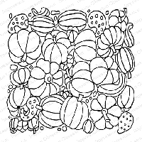 Impression Obsession - Cling Mounted Rubber Stamp - Cover A Card - Pumpkins