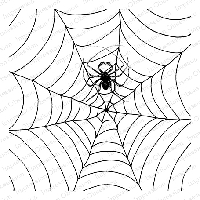 Impression Obsession - Cling Mounted Rubber Stamp - Cover A Card - Spider Webs