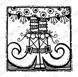Impression Obsession - Cling Mounted Rubber Stamp - By Lindsay Ostrom - Witchy Woman