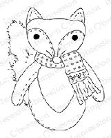 Impression Obsession - Cling Mounted Rubber Stamp - By Alesa Baker - Foxy Friend