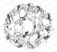 Impression Obsession - Cling Mounted Rubber Stamp - By Tara Caldwell - Fruit Wreath