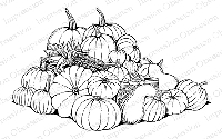 Impression Obsession - Cling Mounted Rubber Stamp - By Tara Caldwell - Pumpkin Harvest