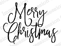 Impression Obsession - Cling Mounted Rubber Stamp - By Dina Kowal - Merry Christmas