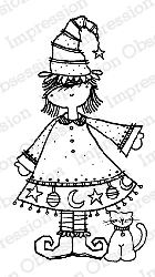 Impression Obsession - Cling Mounted Rubber Stamp - By Lindsay Ostrom - Witch Wanda