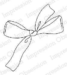 Impression Obsession - Cling Mounted Rubber Stamp - By Alesa Baker - Holiday Bow
