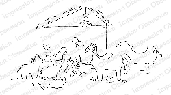 Impression Obsession - Cling Mounted Rubber Stamp - By Alesa Baker - First Nativity