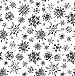 Impression Obsession - Cling Mounted Rubber Stamp - Cover A Card - Snowflakes
