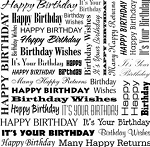 Impression Obsession - Cover A Card - Birthday Words Cling Mounted Rubber Stamp