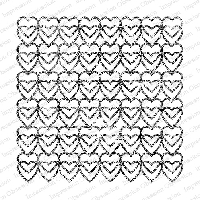 Impression Obsession - Cling Mounted Rubber Stamp - Cover A Card - Grunch Heart Links